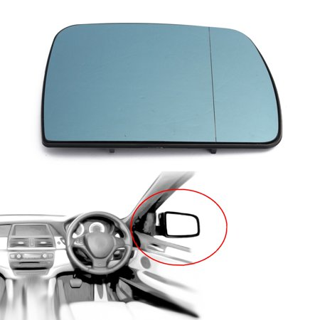 Glass Right Tint (Door Wing Heated Tinted Mirror Glass Right Driver Side For BMW X5 E53 99-06 US)