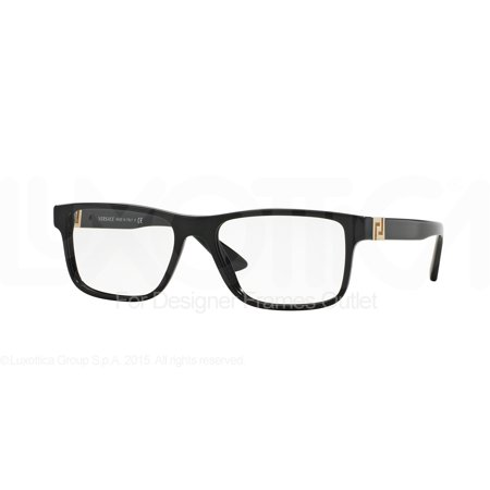 VERSACE Eyeglasses VE3211 GB1 Black (70s Eyeglasses)