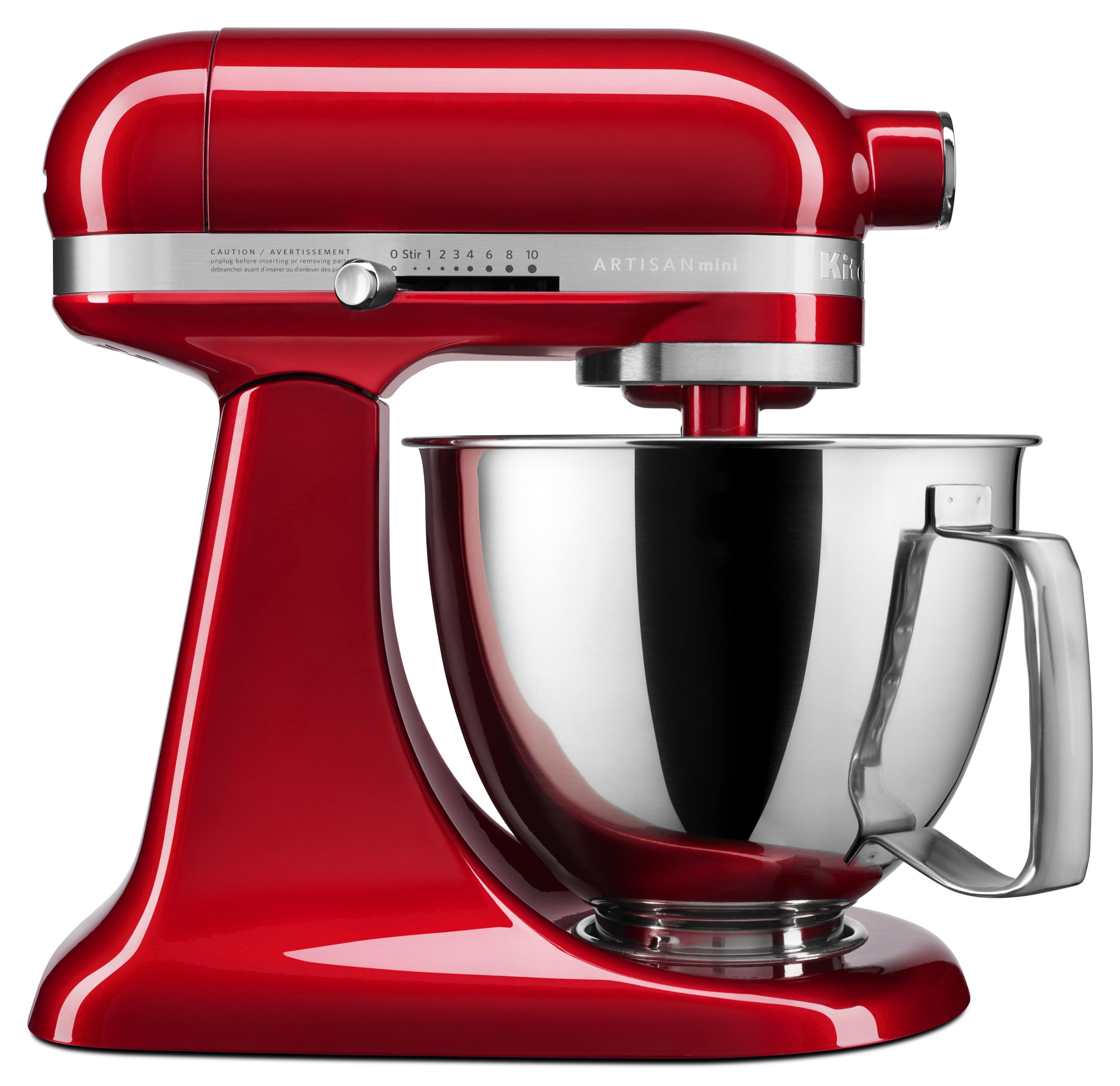 KitchenAid Artisan Mini 3.5 Quart Tilt-Head Stand Mixer, Candy Apple Red (KSM3316XCA)