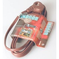 Coleman Cable 09409 11'16/2  Brown Slenderplug™ Indoor Cube Tap Extension Cord