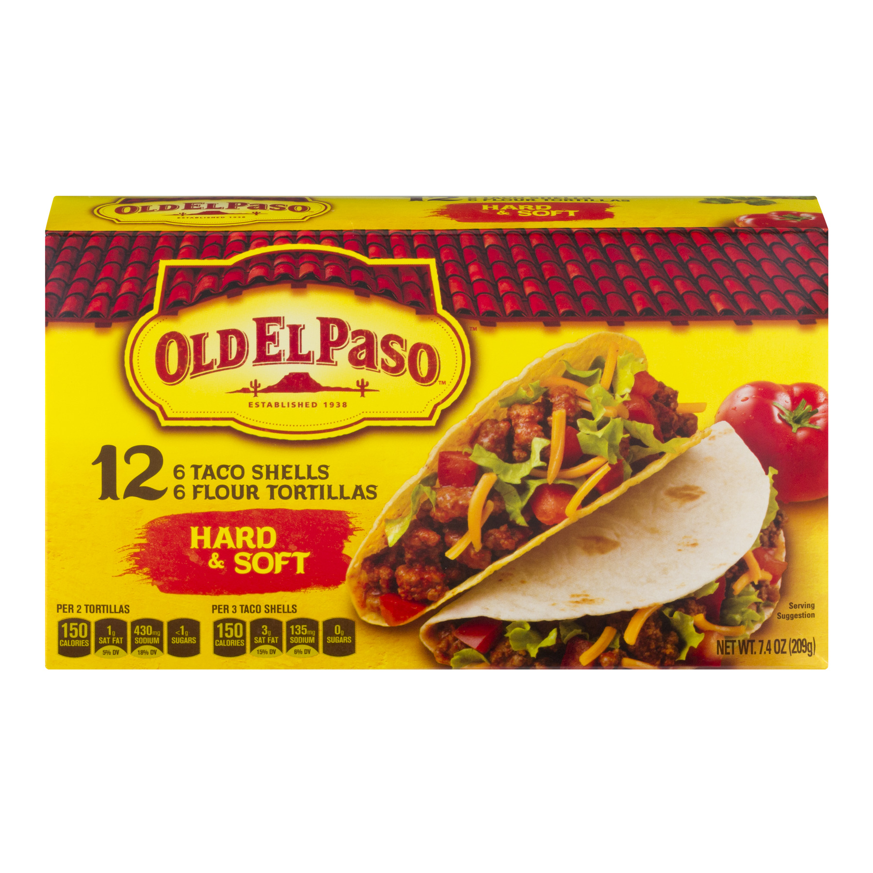 Old El Paso™ Hard and Soft Taco Shells 12 ct 7.4 oz Box