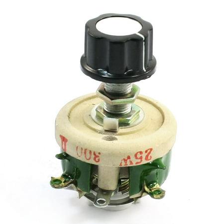 (Unique Bargains Single Turn Resistor 25W 300 Ohm Volume Control Ceramic Disk Rheostat)