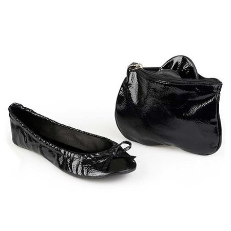 sidekicks patent black, folding ballet