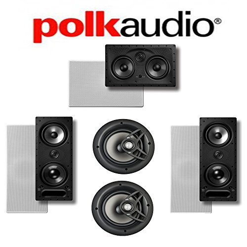 Polk Audio 265-LS + Polk Audio V80 + Polk Audio 255C-LS 5.0 Vanishing Series In-Wall   In-Ceiling Home Theater System by Polk Audio