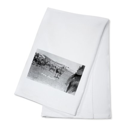 Canadian Dish (Calgary, Canada - Bucking Horses at the Stampede (100% Cotton Kitchen Towel) )