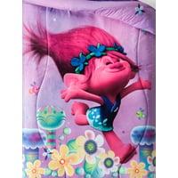 Dreamworks Trolls Reversible Microfiber Comforter, Twin Bed