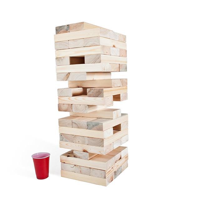 XXL LumberStak Block Tower Game
