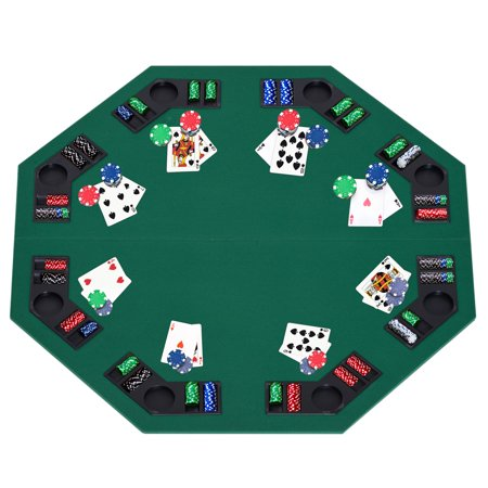 Soozier Deluxe Foldable Poker / Blackjack Card Game Table Top w/ Carrying Bag ()