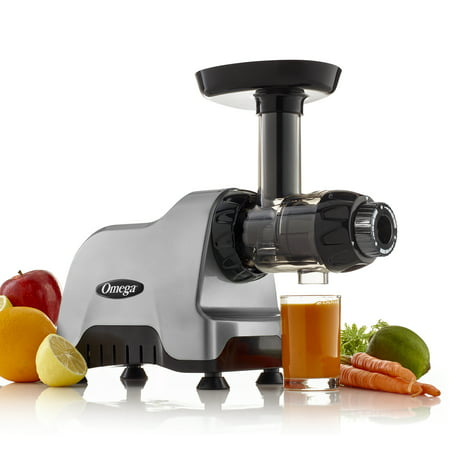 Omega Compact Slow Speed Multi-Purpose Nutrition Center Juicer, Silver, CNC80S