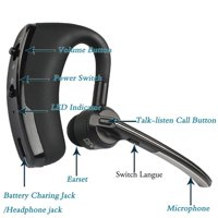 V8 Business Bluetooth Headset V4.1 Handsfree with Microphone Car High-end Ultra Long Standby Wireless Earphone