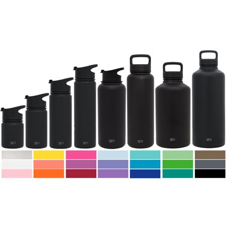 4844288076 Simple Modern Summit Water Bottle + Extra Lid - Wide Mouth Vacuum Insulated  - 8 Sizes, 25+ Colors - Walmart.com