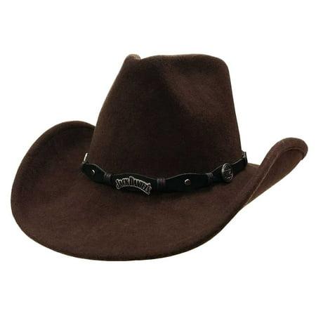 9ba32b0271598 Jack Daniel s - Jack Daniels Men s 100% Crushable Wool Cowboy Hat - Brown  Cap JD03-34 - Walmart.com