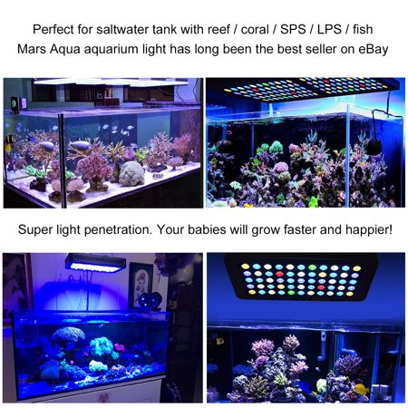 dimmable 165w led aquarium light full spectrum coral reef tank sps