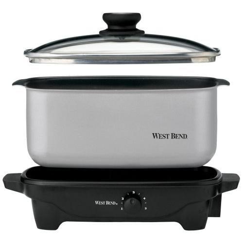 West Bend Kitchen Appliances 84905 5 Qt. Oblong Slow Cooker