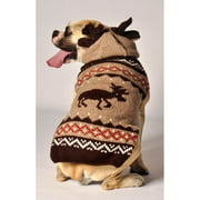 Chilly Dog Moosey Hoodie Dog Sweater - Tan / Brown