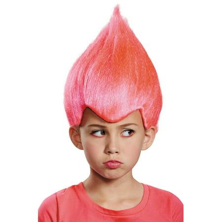 Men's Pink Troll Wacky Wig Child - Troll Hair Wig