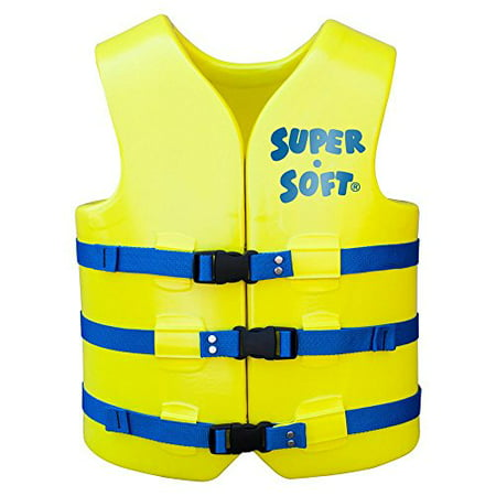 TRC Recreation Adult Super-Soft USCG Vest, Yellow, Large - image 1 de 1