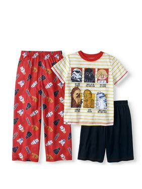 Lego Star Wars Boy's 3 Piece Pajama Sleep Set (Big Boys & Little Boys)