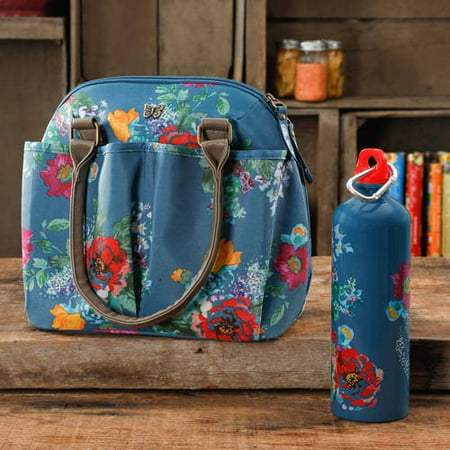 1772d08b82d0 The Pioneer Woman Lunch Tote with Water Bottle, Multiple Colors