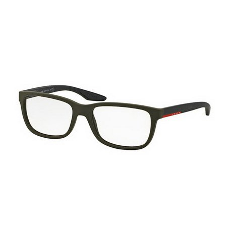 Prada PS02GV-UBW1O1 Linea Rossa Men's Green Frame Clear Lens 56mm Eyeglasses (Best Prada Eyeglass Frames)