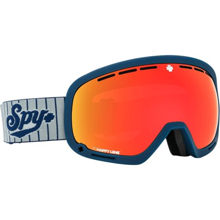 SPY Optic Marshall Snow Goggles   Aviation Scoop Design Ski, Snowboard or Snowmobile Goggle   Two Lenses with Patented Happy Lens Tech BIG LEAGUES-HAPPY GRAY GREEN w/RED SPECTRA+HAPPY YELLOW w/LUCID (Spy Happy Lense)