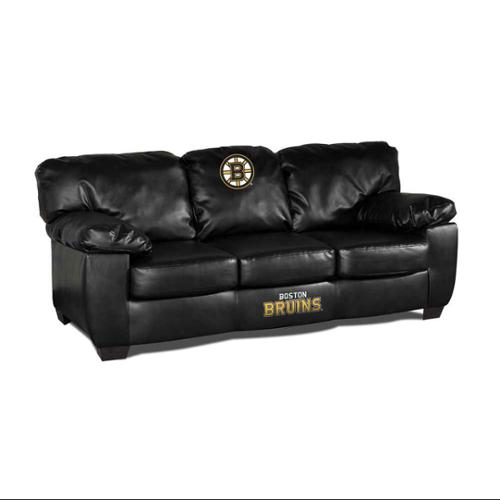 Boston Bruins Blk Leather Classic Sofa by