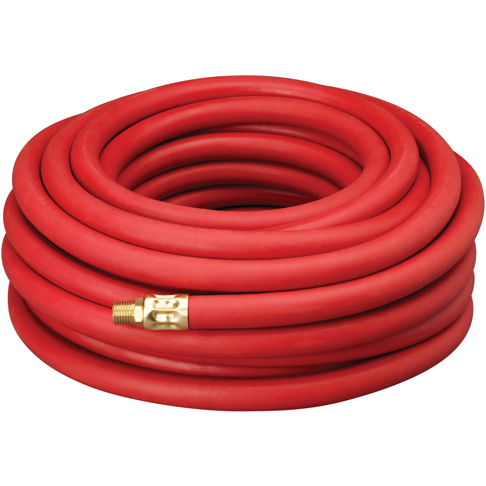 "Amflo 50' x 3/8"" Red Rubber Air Hose"