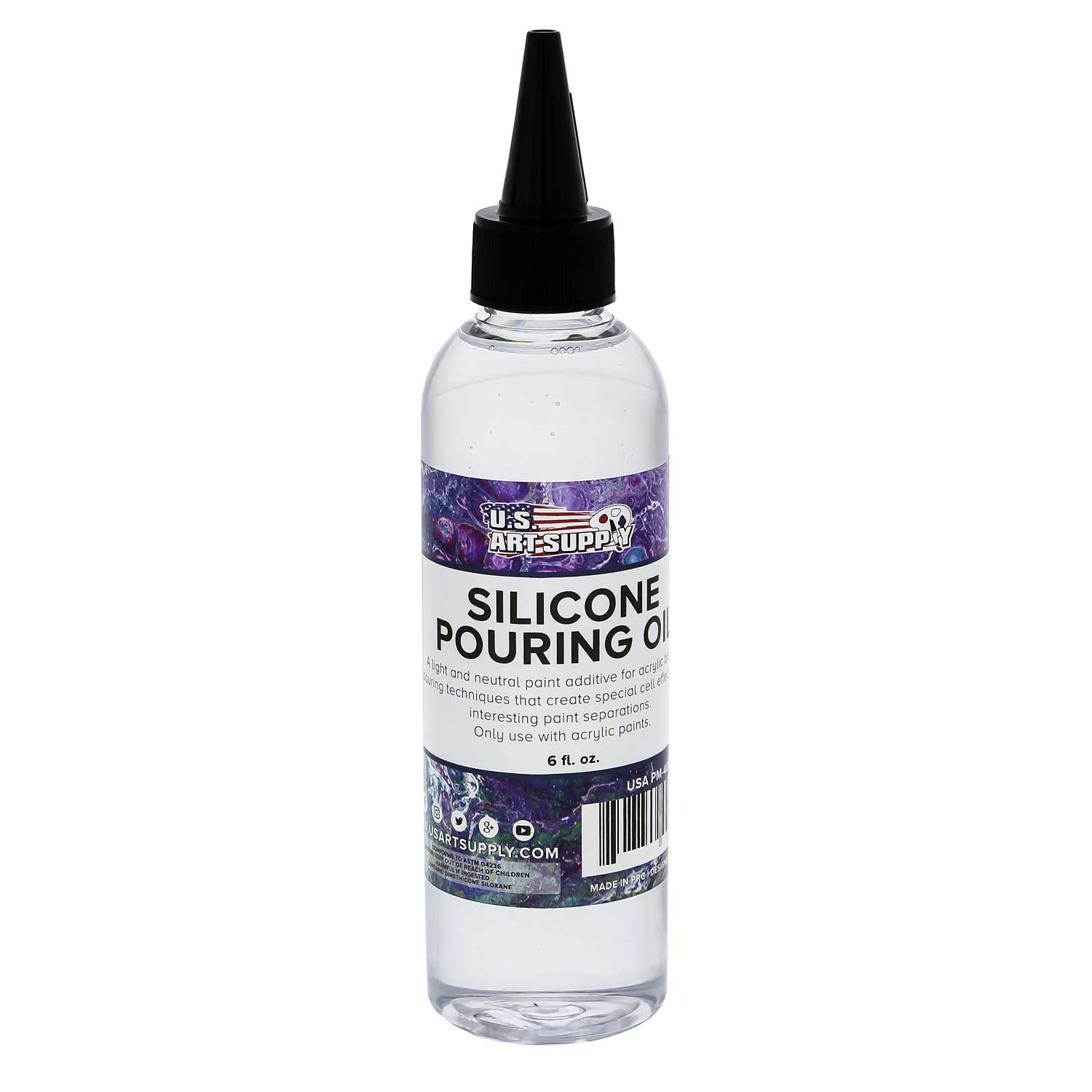 U S Art Supply Silicone Pouring Oil 6 Ounce 100 Silicone For