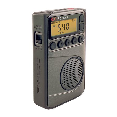 C. Crane CC Pocket Digital AM FM and NOAA Weather Portable Radio with Clock and Sleep Timer