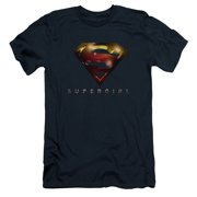 Supergirl Logo Glare Mens Slim Fit Shirt