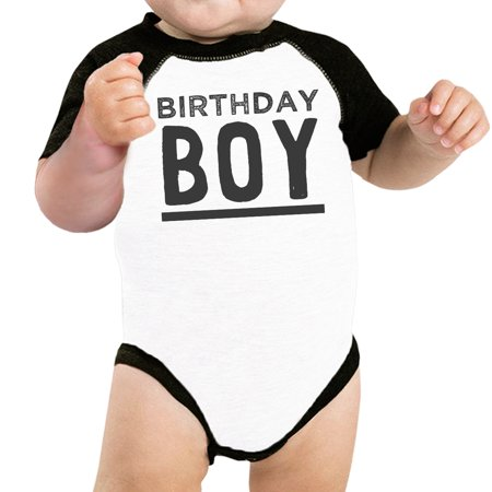 Baby Boy Baseball Bodysuit Black Cute Baby Birthday Gift T-Shirt Idea](Baby Halloween Birthday Ideas)