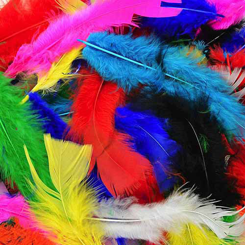 Fluffy Marabou Feathers, 34g, Assorted Colors