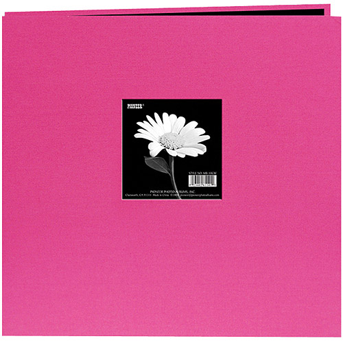 """Book Cloth Cover Postbound Album With Window, 12"""" x 12"""""""