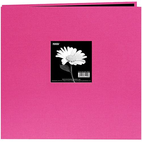 Book Cloth Cover Postbound Album With Window 12 Inch X 12 Inch-Bri
