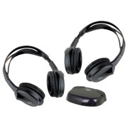 2) New Boss HS-IR Over Head Wireless Car Video Monitor Headphones w/IR HSIR