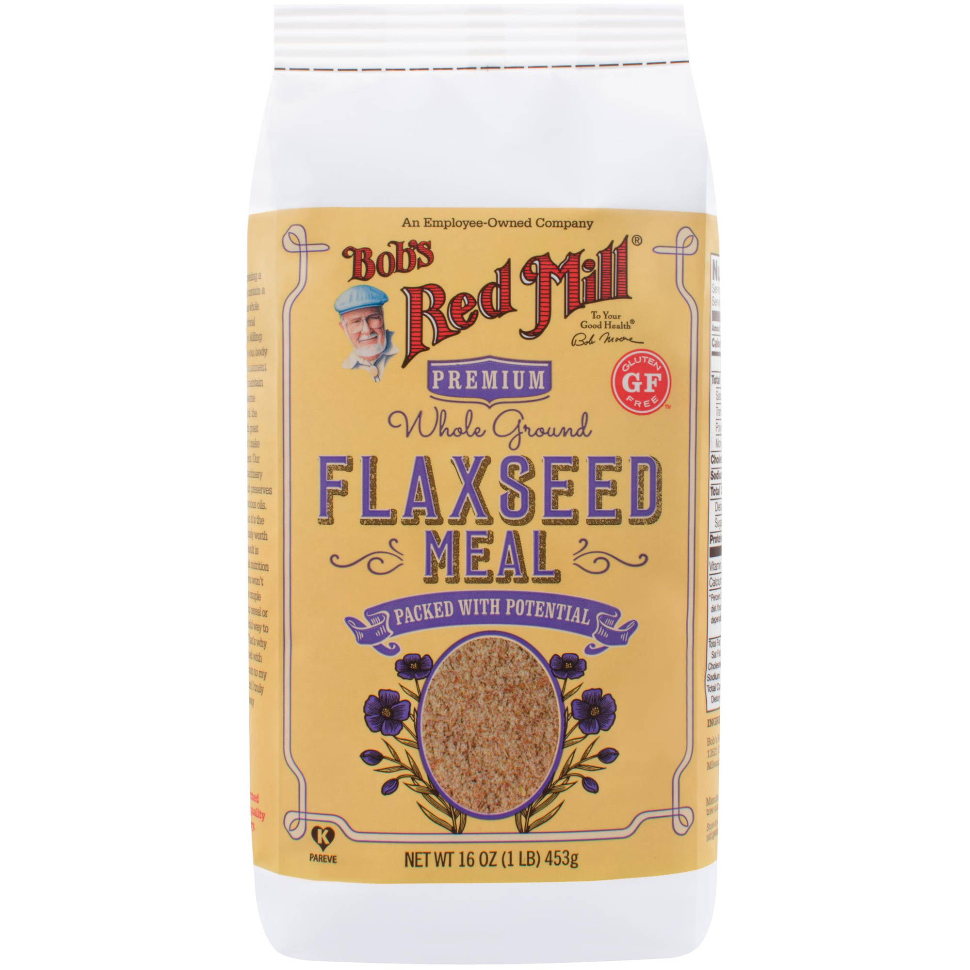 Bob's Red Mill Whole Ground Flaxseed Meal, 16 oz (Pack of 4)