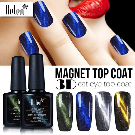 Belen 3D Magnetic Gel Cat Eyes Gel Polish Chameleon Magnet Top Coat Nail Polish Cat Eye Cadence Magnet