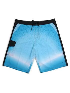 Men's Gradient Boardshort Swim Shorts Aqua Blue Combo-SZ-38