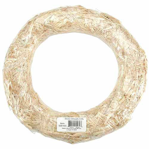 "Floracraft Straw Wreath 18"", Natural"