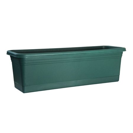 Plastic Window Box (Rugg AW24-FG Window Box, Slate Green, Polyresin )