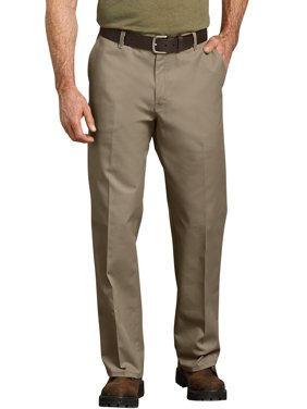 Genuine Dickies Men's Relaxed Fit Straight Leg Flat Front Flex Pant