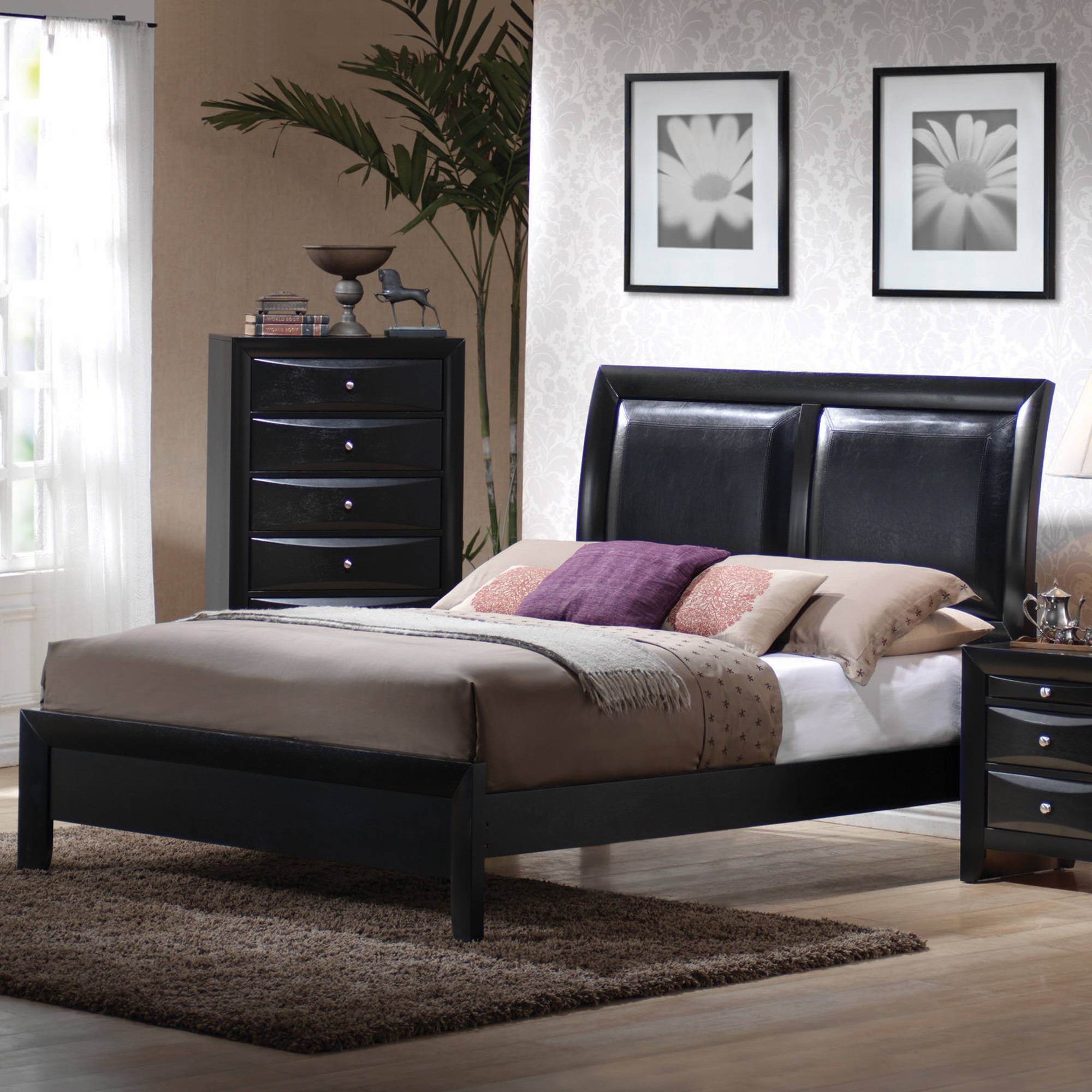 Coaster Furniture Briana Collection King Bed, Black (Box ...