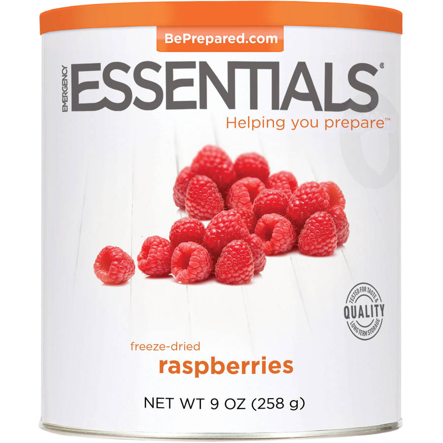Emergency Essentials Food Freeze-Dried Raspberries, 9 oz by Emergency Essentials