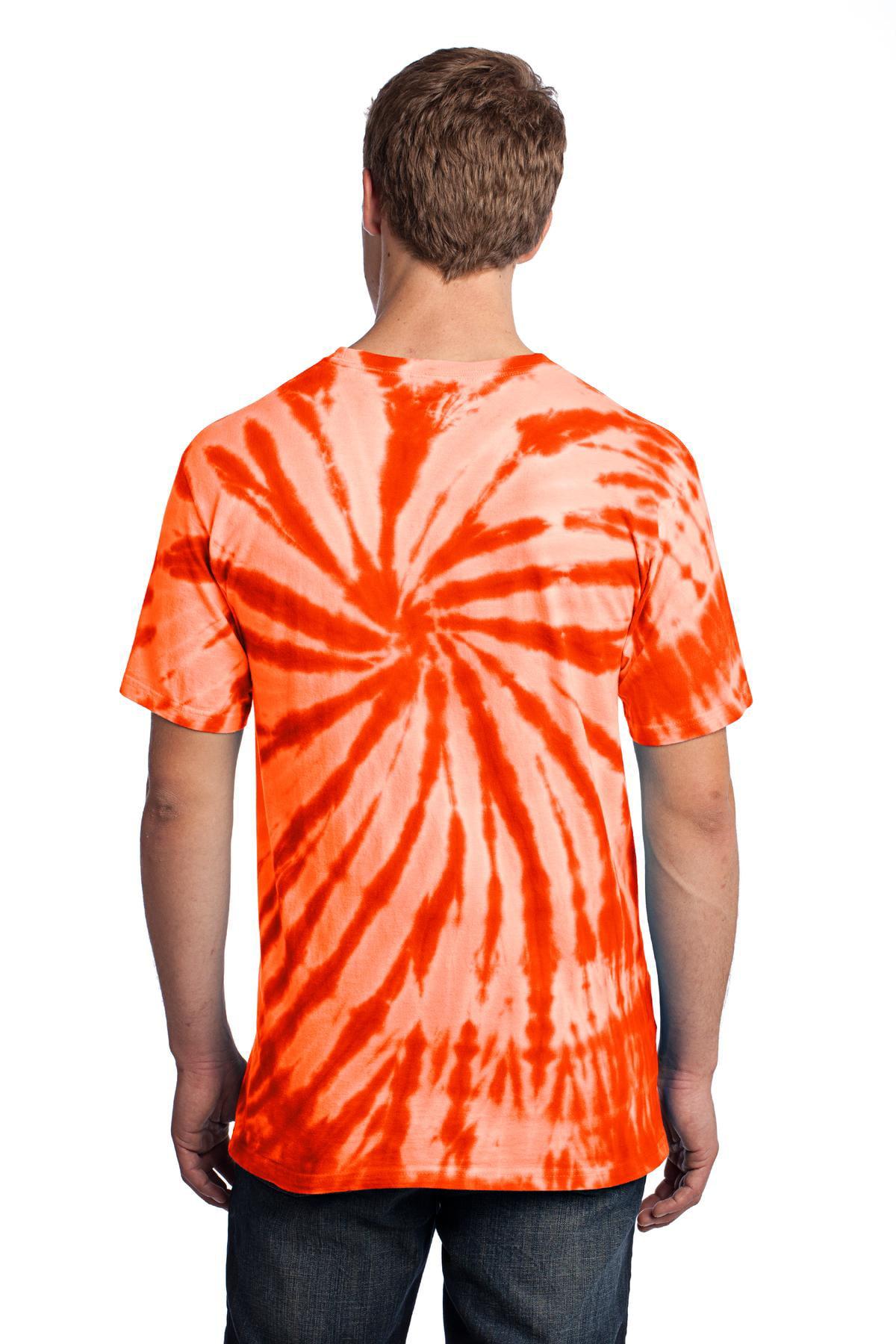 - Orange Essential Tie-Dye Tee S Port /& Company