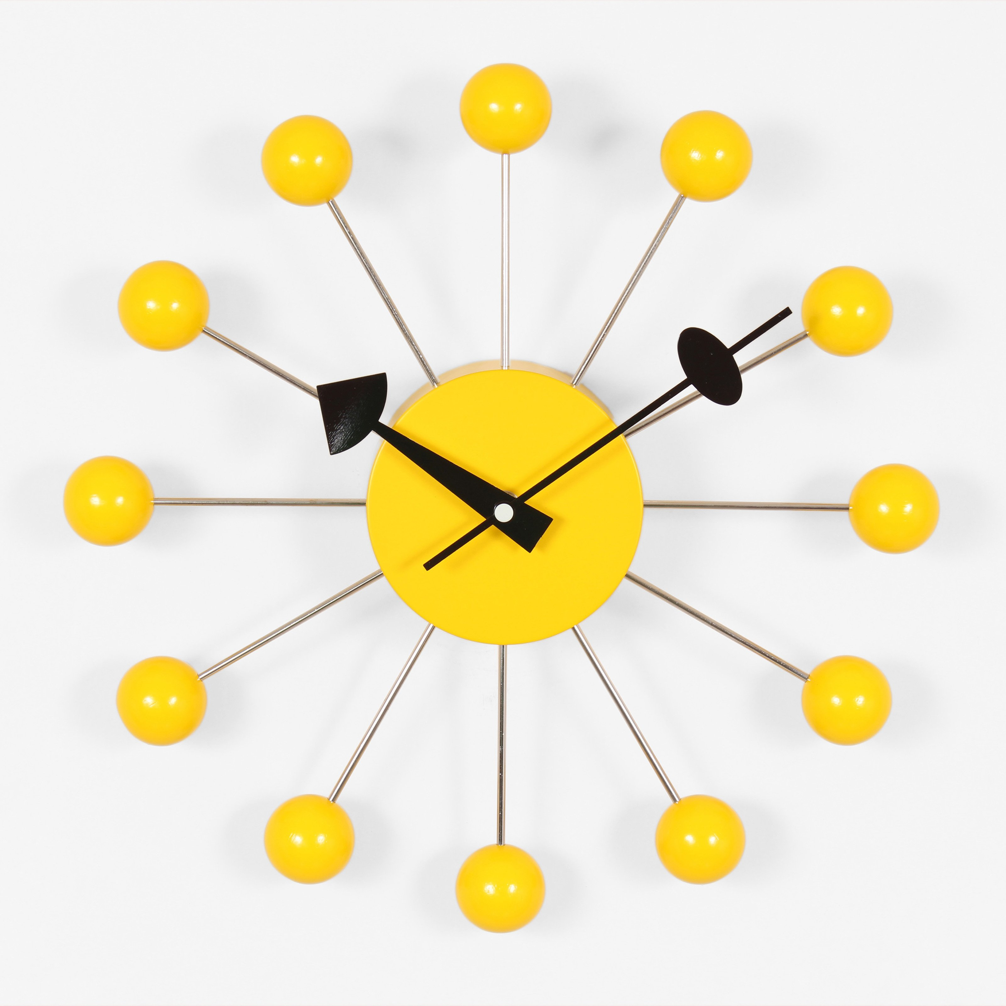 George Nelson Ball 13 in. Wall Clock - Yellow