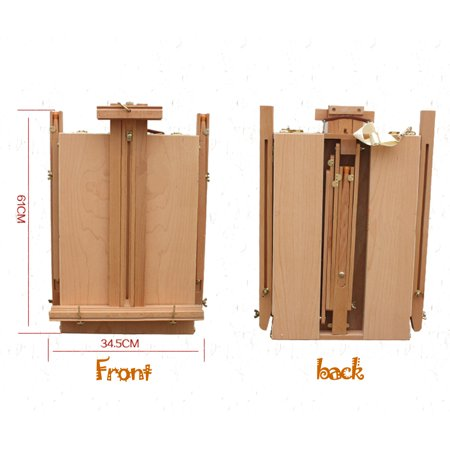 Ktaxon French Folding Durable Tripod Painting Drawing Easel Display Stand Holder Floor with Wooden Sketch Box Drawer Storage Portable Art Craft Painter Studio - image 6 of 7