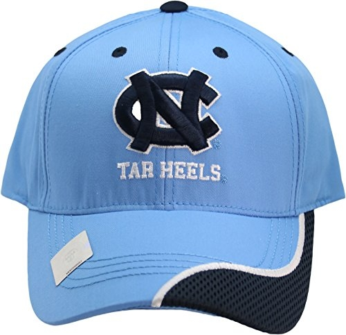 NCAA North Carolina Tar Heels One-Fit Adjustable Velcro Two Tone Swirl Hat Blue