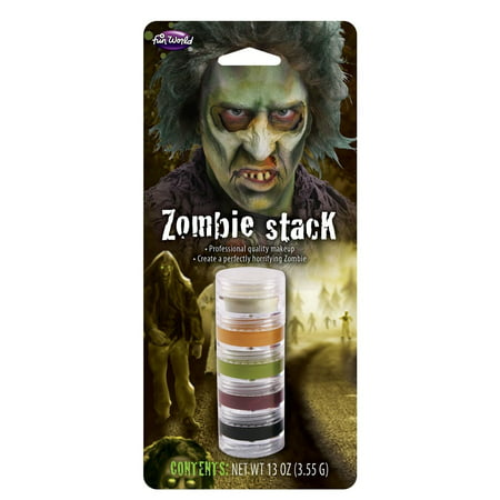 5 Color Cream Face Makeup Victim Stack Theatrical Stage Halloween - Halloween Facepaint