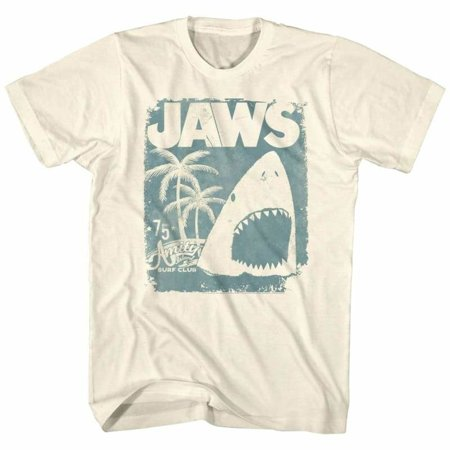 Jaws Movies Surf Club Poster Adult Short Sleeve T - Surf Adult T-shirt