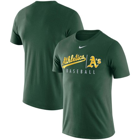 Oakland Athletics Nike 2019 MLB Practice Performance T-Shirt - (Best Mtb Helmet Light 2019)